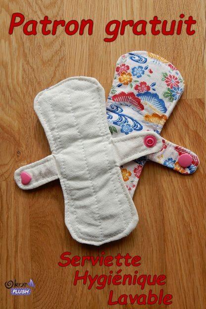 serviette hygiénique lavable - 2 faces - format rectangle