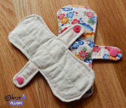 serviette hygiénique lavable - 2 faces - format carré