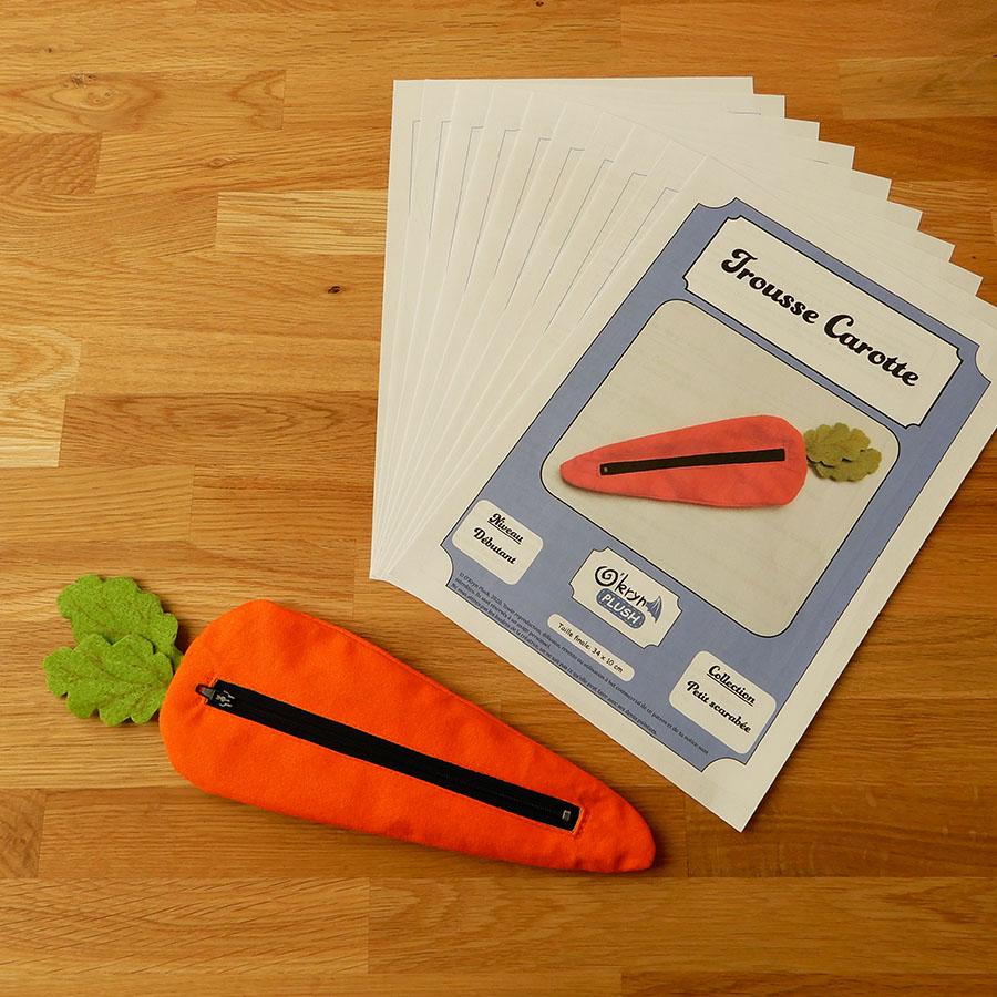 patron papier du pdf de la trousse carotte de o'kryn plush et la trousse carotte