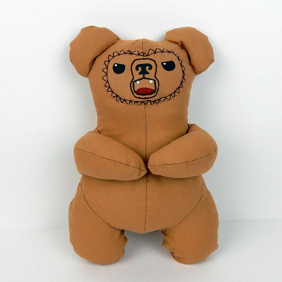 peluche Oberon ourson marron en coton - patron O'Kryn Plush