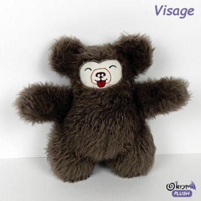visage ours coquin pour peluche oberon