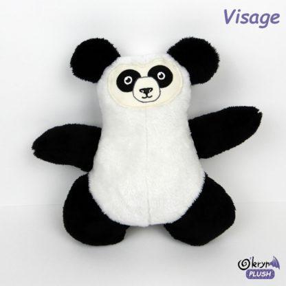 visage panda pour peluche oberon